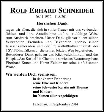 Zur Gedenkseite von Rolf Erhard