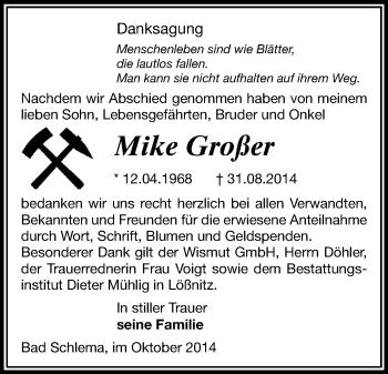 Zur Gedenkseite von Mike
