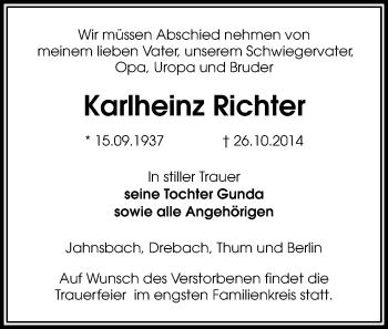 Zur Gedenkseite von Karlheinz