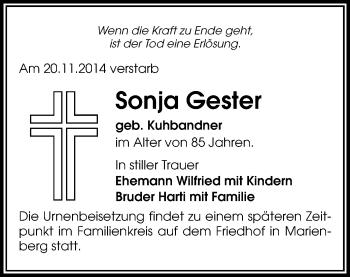 Zur Gedenkseite von Sonja