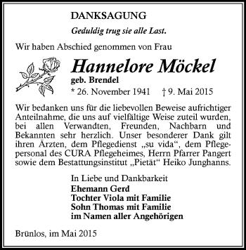 Zur Gedenkseite von Hannelore