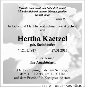 Zur Gedenkseite von Hertha