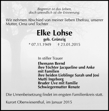 Zur Gedenkseite von Elke