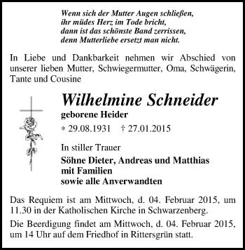 Zur Gedenkseite von Wilhelmine