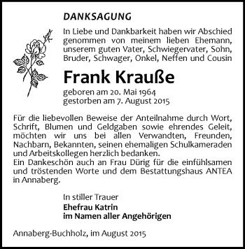 Zur Gedenkseite von Frank