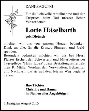 Zur Gedenkseite von Lotte