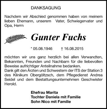 Zur Gedenkseite von Gunter