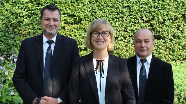 Sven Hofmann, Claudia Günther (Institutsleiterin) und Günter Müller (v.l.n.r)